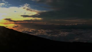Sunset Time lapse view Haleakala Crater, Maui, Hawaii