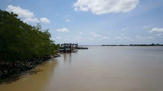 Suriname River in Nieuw Amsterdam Suriname