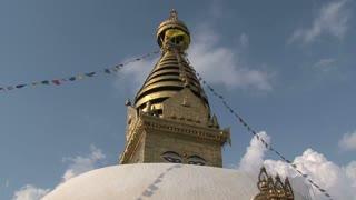 Swayambhunath stupa, monkey temple with prayer flags