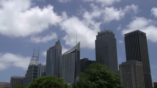Sydney downtown skyline from Botanic gardens time lapse
