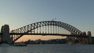 Sydney harbour bridge in the evening,Australia