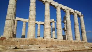 Temple of Poseidon at Cape Sounio Greece