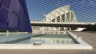 The Agora and the Assut de l'Or Bridge at the City of Arts and Sciences in Valencia Spain