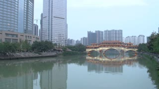 The Anshun Bridge time lapse from day to night