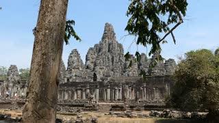 The Bayon Khmer temple at Angkor Wat Cambodia