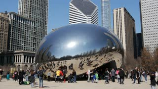 The Cloud Gate (The Bean) in Chicago
