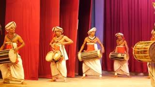 The drum orchestra Kandyan Dancers Sri Lanka