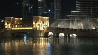 The Dubai Fountain wide shot, Dubai