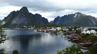 The fishing village Reine in Norway