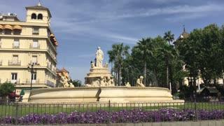 The Fountain Puerta de Jerez in Seville Spain