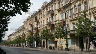 The Gediminas Avenue in Vilnius Lithuania