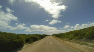 The Great Ocean Drive Time lapse from drive, Esperance, Western Australia