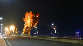 The head of the Dragon bridge in Da Nang, Vietnam