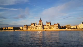 The Hungarian Parliament Building (Parliament of Budapest) in the evening light