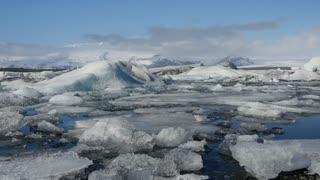 The Jökulsárlón Glacier lagoon in southeast Iceland