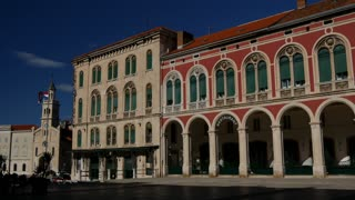 The republic square in Split Croatia