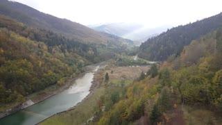 The river Dorna landscape in Romania