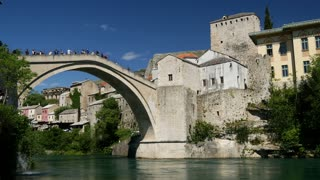 The Stari Most (Old Bridge) Mostar Bosnia and Herzegovina