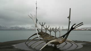 The Sun Voyager time lapse with cloudy sky