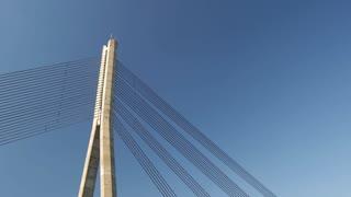 Tilt down from the Vanšu Bridge in Riga