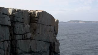 Tilt down to The Gap Albany, Western Australia