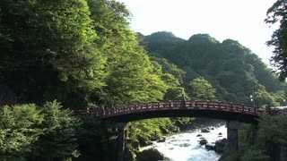 Tilt from The Sacred Bridge in Nikko, Japan