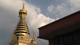 Tilt swayambhunath stupa/monkey temple in kathmandu Nepal