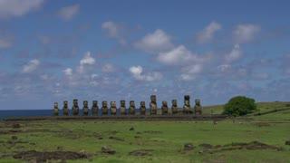 Time lapse Ahu Tongariki Rapa Nui, Easter Island