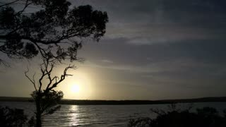 Time lapse Beaufort inlet sunset Western Australia