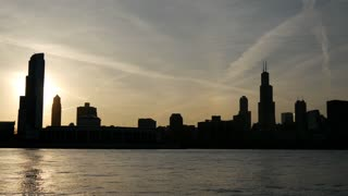 Time lapse from Chicago skyline sunset