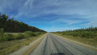 Time lapse from driving from Cape Le Grand National Park to  Esperance, Western Australia