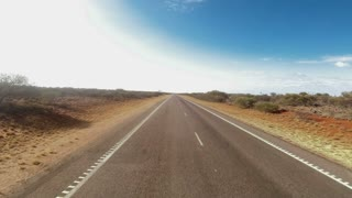 Time lapse from flat landscape and driving through Western Australia