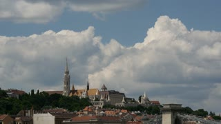 Time lapse from Matthias Church and the Fisherman's Bastion in Budapest Hungary