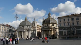 Time lapse from People at Piazza del Popolo in Rome Italy