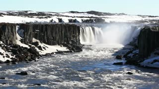 Time lapse from selfoss waterfall in Iceland
