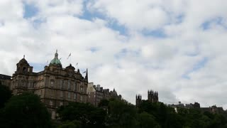 Time lapse from the Bank of Scotland and Edinburgh Castle
