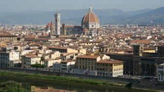 Time lapse from The Cattedrale di Santa Maria del Fiore the Florence Cathedral, Italy