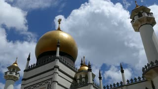 Time lapse from the Masjid Sultan Jawi, Suktan Mosque in Singapore