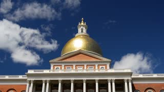 Time lapse from the Massachusetts State House in Boston