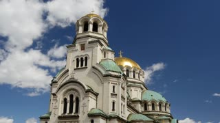Time lapse from The St. Alexander Nevsky Cathedral a Bulgarian Orthodox cathedral in Sofia Bulgaria