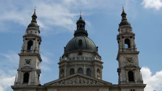 Time lapse from the St. Stephen's Basilica in Budapest Hungary