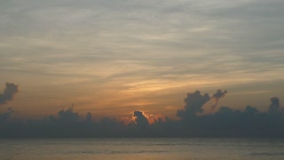 Time lapse from the sunrise at the beach from Arugam Bay in Sri Lanka
