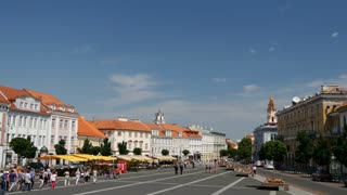 Time lapse from Vilnius Town Hall Square in Lithuania
