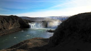 Time lapse slide from the Godafoss waterfall in Iceland