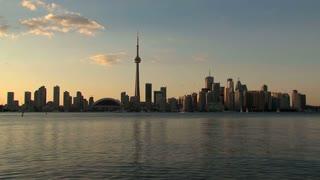 Time lapse Toronto Skyline Canada