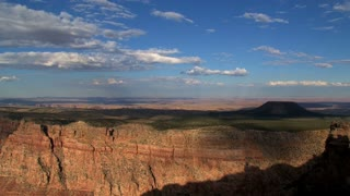 Timelpase of cloud shadows moving above the Grand Canyon