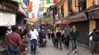 Tourism in the street of thamel Kathmandu, Nepal