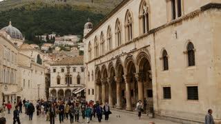 Tourists walking through the streets of Dubrovnik Croatia