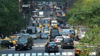 Traffic at East 42nd Street in New York City