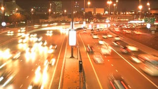 Traffic at night, Dubai